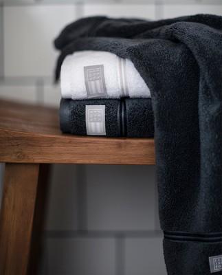 Lexington Hotel Towel Gray/Dk Gray