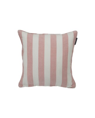 Viscose/Linen Striped Sham, Pink/White