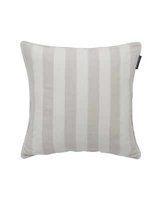 Viscose/Linen Striped Sham, Beige