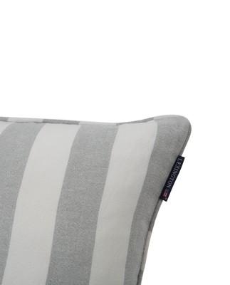 Viscose/Linen Striped Sham, Green/White