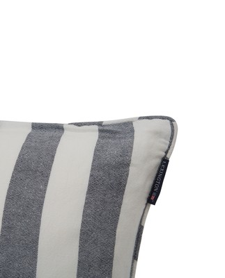 Viscose/Linen Striped Sham, Blue/White