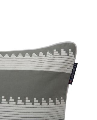 Embroidery Striped Sham, Green/White