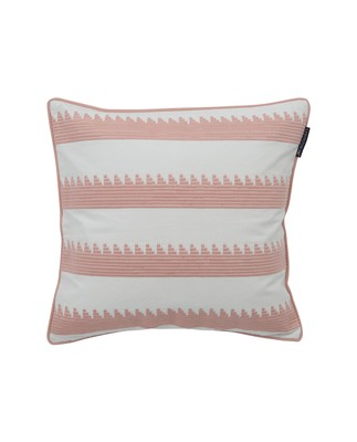 Embroidery Striped Sham, Pink/White 50x50