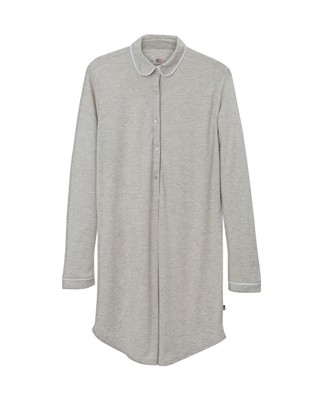 Ava Jersey Nightshirt, Light Gray