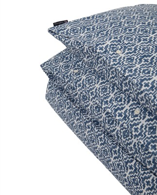 Blue Printed Sateen Duvet