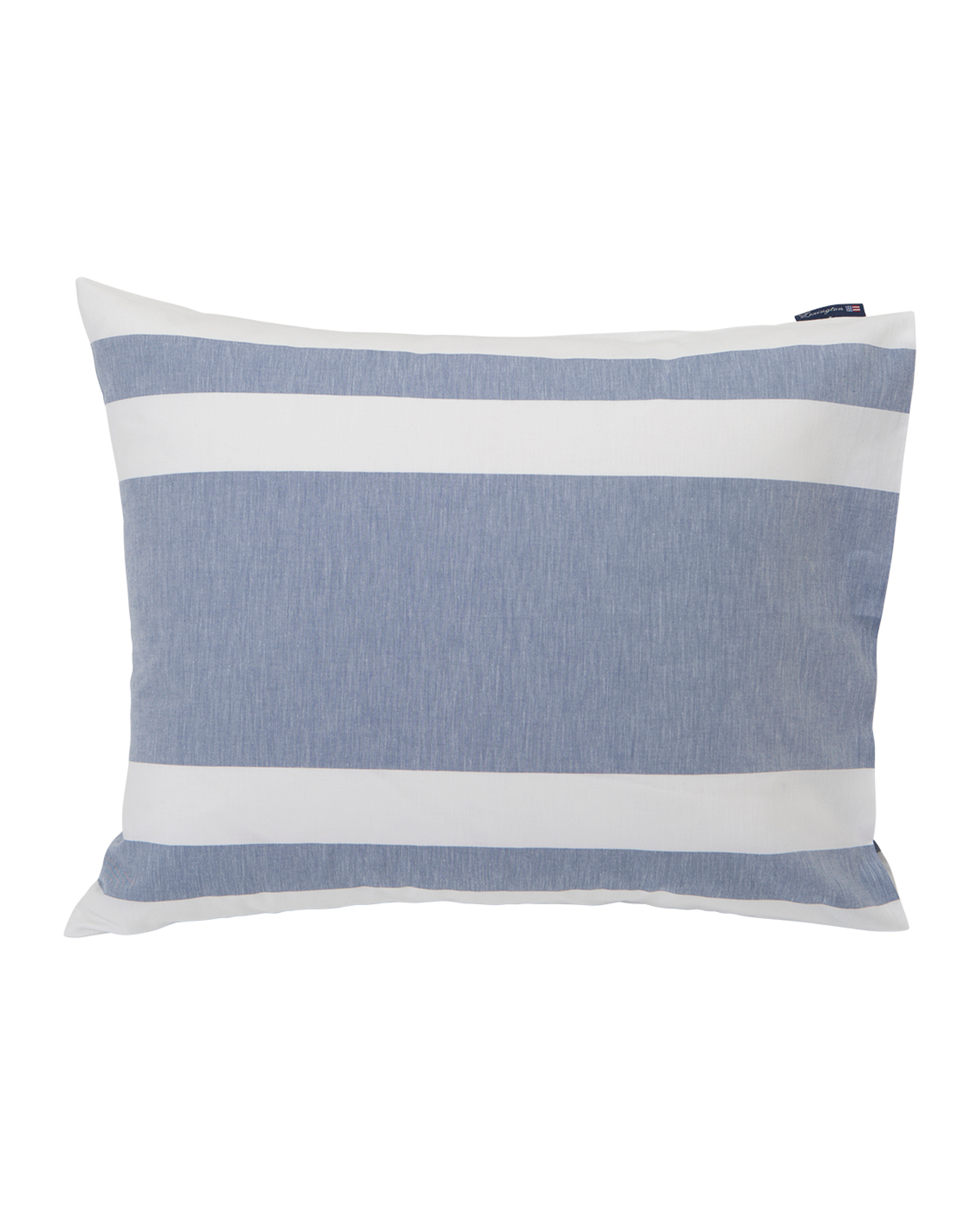 Blue Horizontal Striped Poplin Pillowcase
