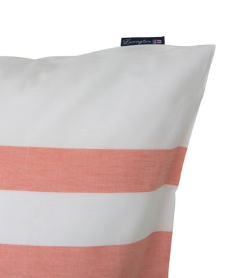 Apricot Horizontal Striped Poplin Pillowcase