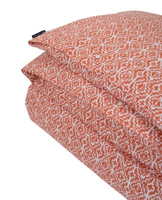 Apricot Printed Sateen Duvet