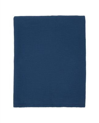 Cotton Bedspread, Blue