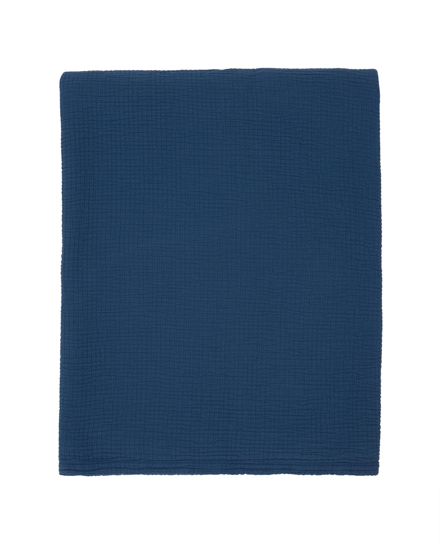 Cotton Bedspread, Blue