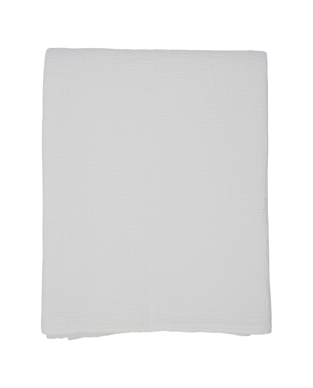 Cotton Bedspread, White