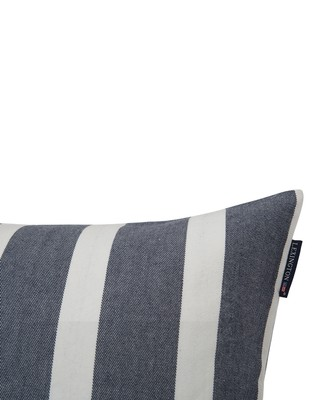 Wide Stripe Sham, Blue/White