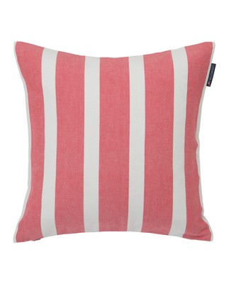 Wide Stripe Sham, White/Red