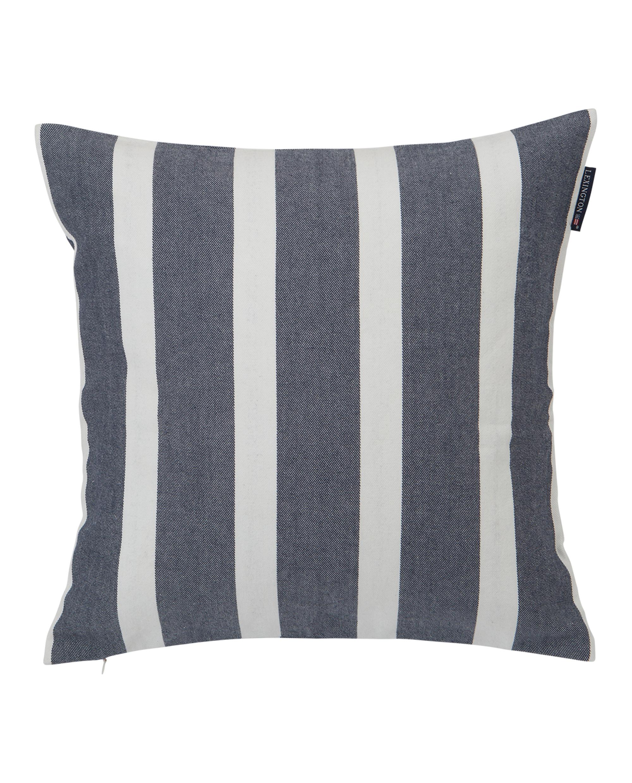 Wide Stripe Sham, Blue/White