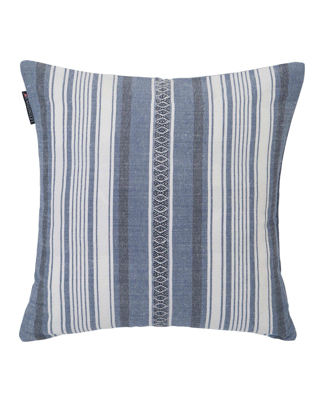 Multi Stripe Sham, Blue/White