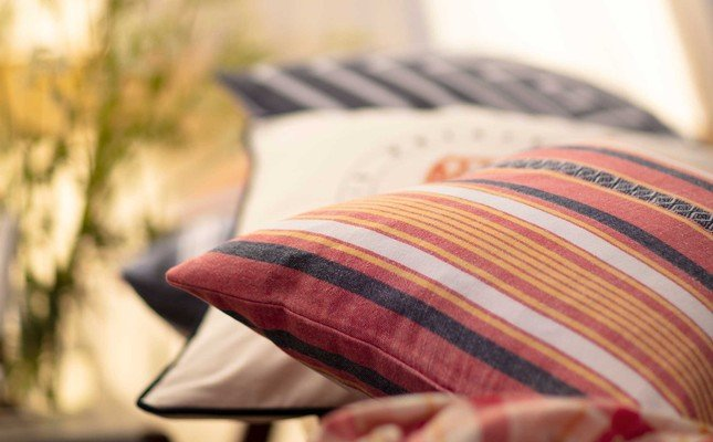 Multi Stripe Sham, Red/White