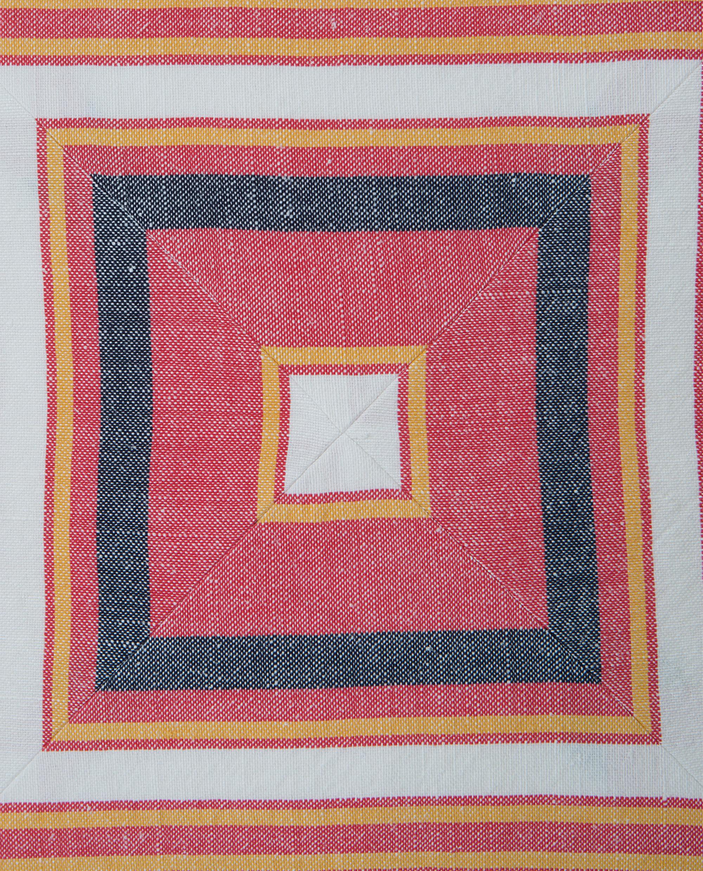 Multi Stripe Sham, Red/White