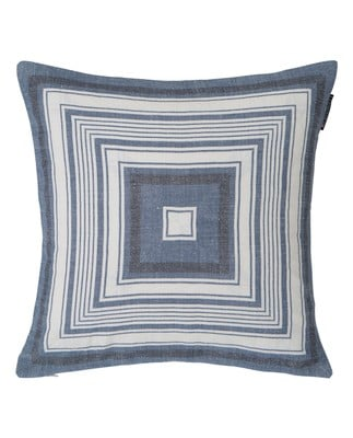 Multi Stripe Sham, Blue/White