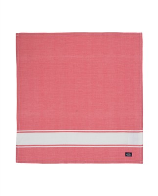 Napkin With Stripe, Red/White