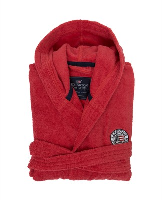 Unisex Hood Terry Robe, Red