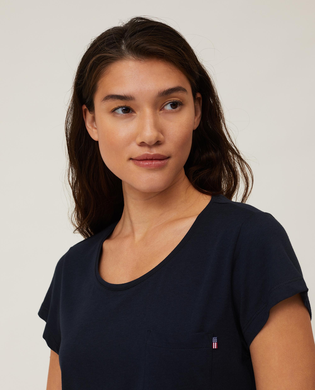 Ashley Jersey Tee, Dark Blue
