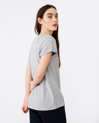 Ashley Jersey Tee, Gray Melange