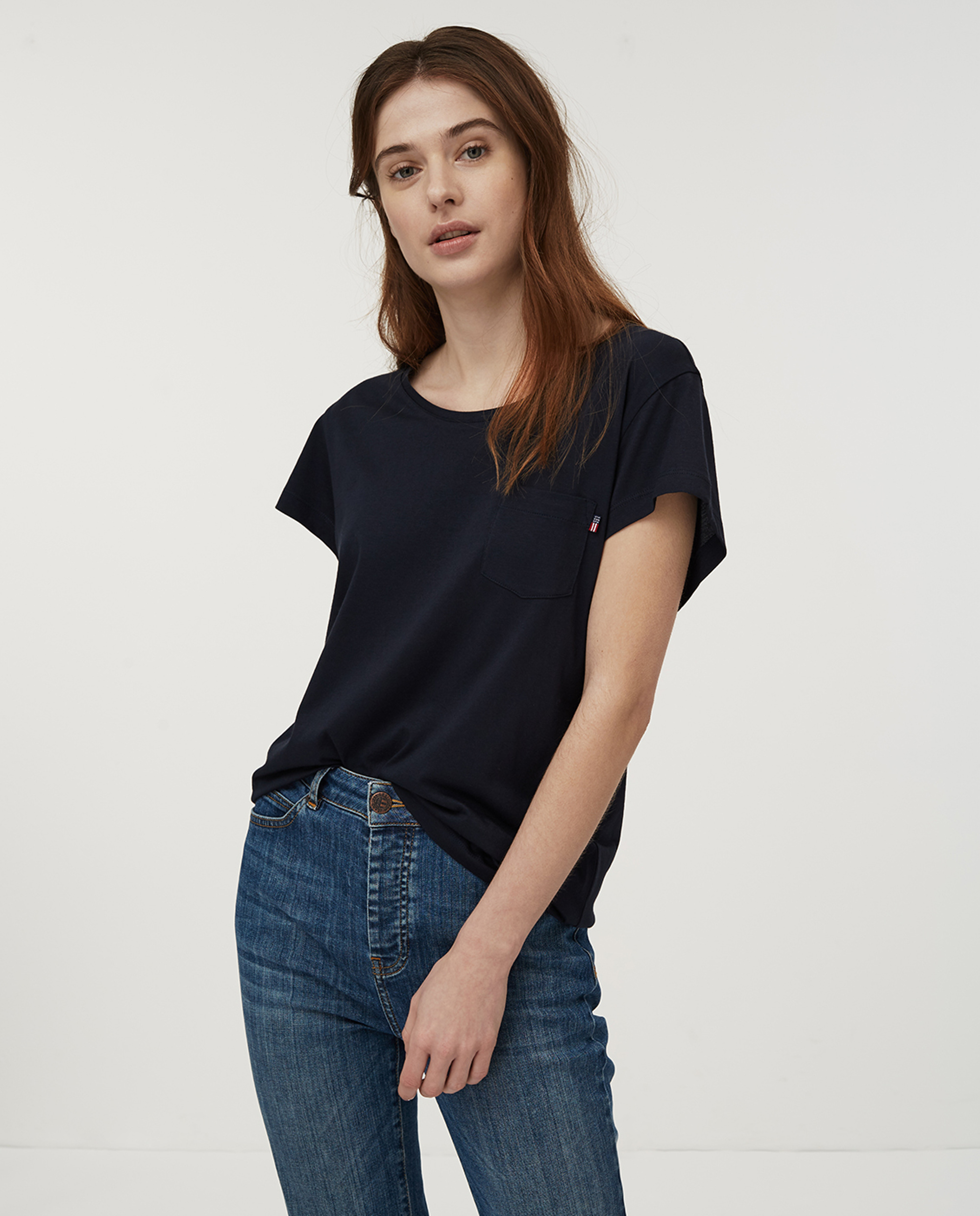 Ashley Jersey Tee, Dark Blue