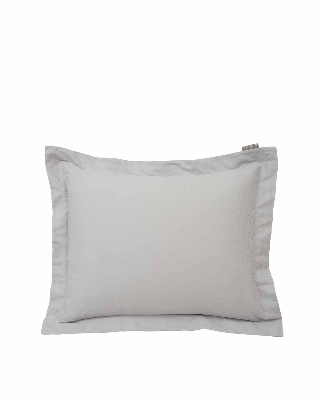 Hotel Sateen Jacquard Gray Pillowcase, Gray