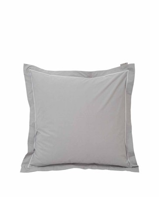 Hotel Percale Gray/White Pillowcase, Gray/White