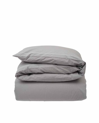 Hotel Percale Gray/White Duvet, Gray/White