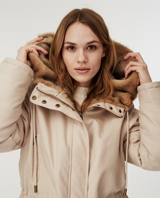 Biella Cotton Parka, Light Beige