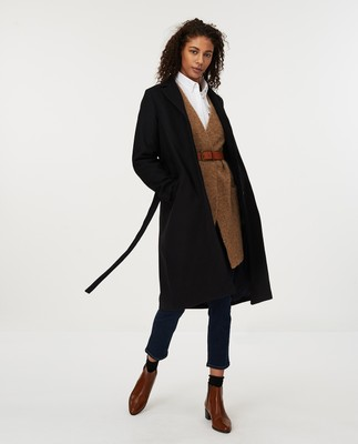 Heather Coat, Black