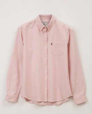 Sarah Oxford Organic Cotton Shirt, Pink