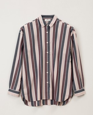 Edith Poplin Shirt, Multi Stripe