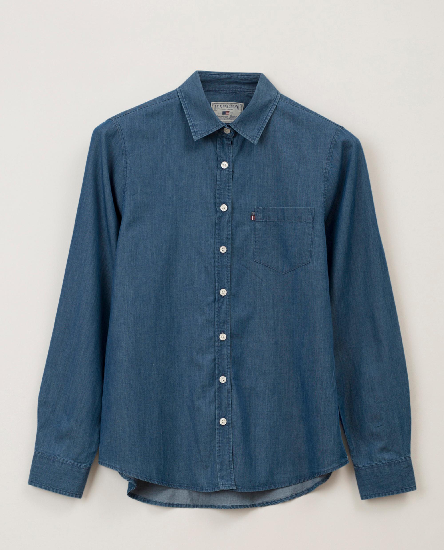 Emily Denim Shirt, Medium Blue