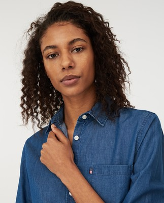 Emily Denim Shirt, Medium Blue