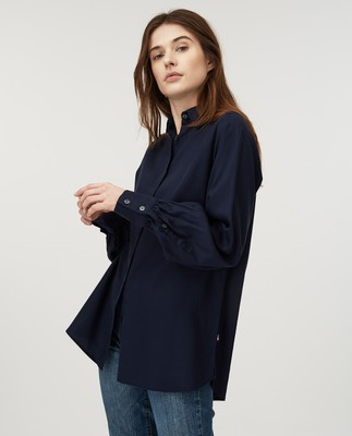 Isolde Lyocell Shirt, Dark Blue