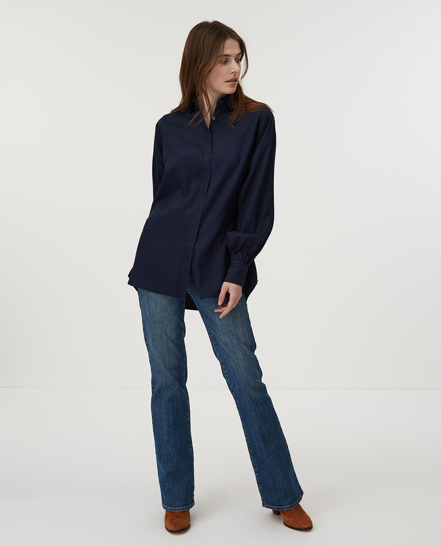 Isolde Lyocell Shirt, Dark Blue