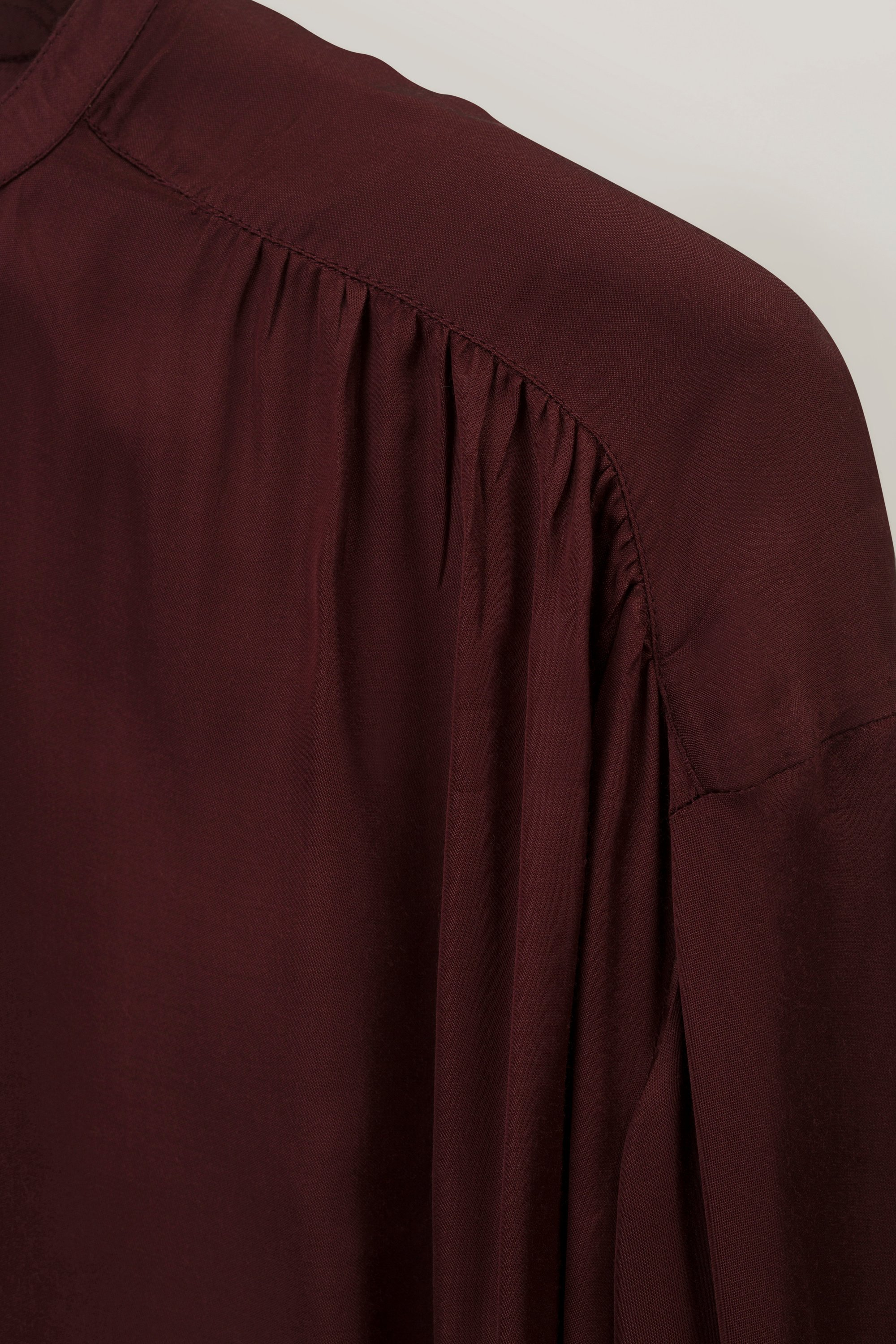 Nellie Satin Blouse, Dark Red