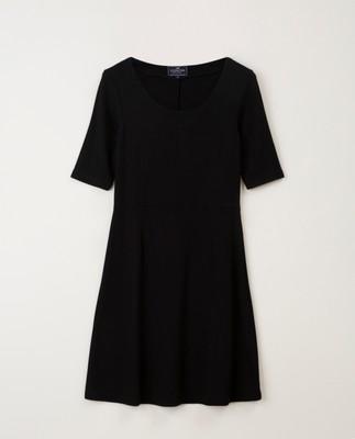 Scarlett U-neck Dress, Black