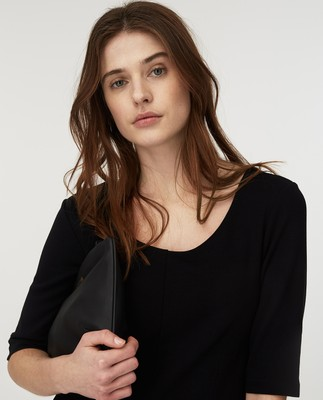 Scarlett U-neck Dress, Black