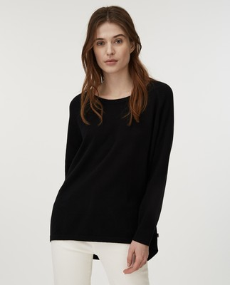 Lea Cotton/Cashmere Sweater, Black
