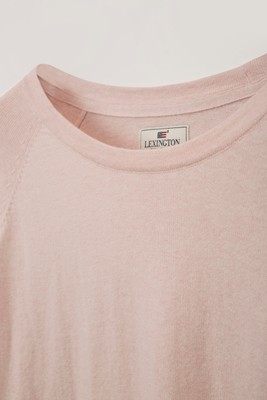 Lea Cotton/Cashmere Sweater, Pink Melange