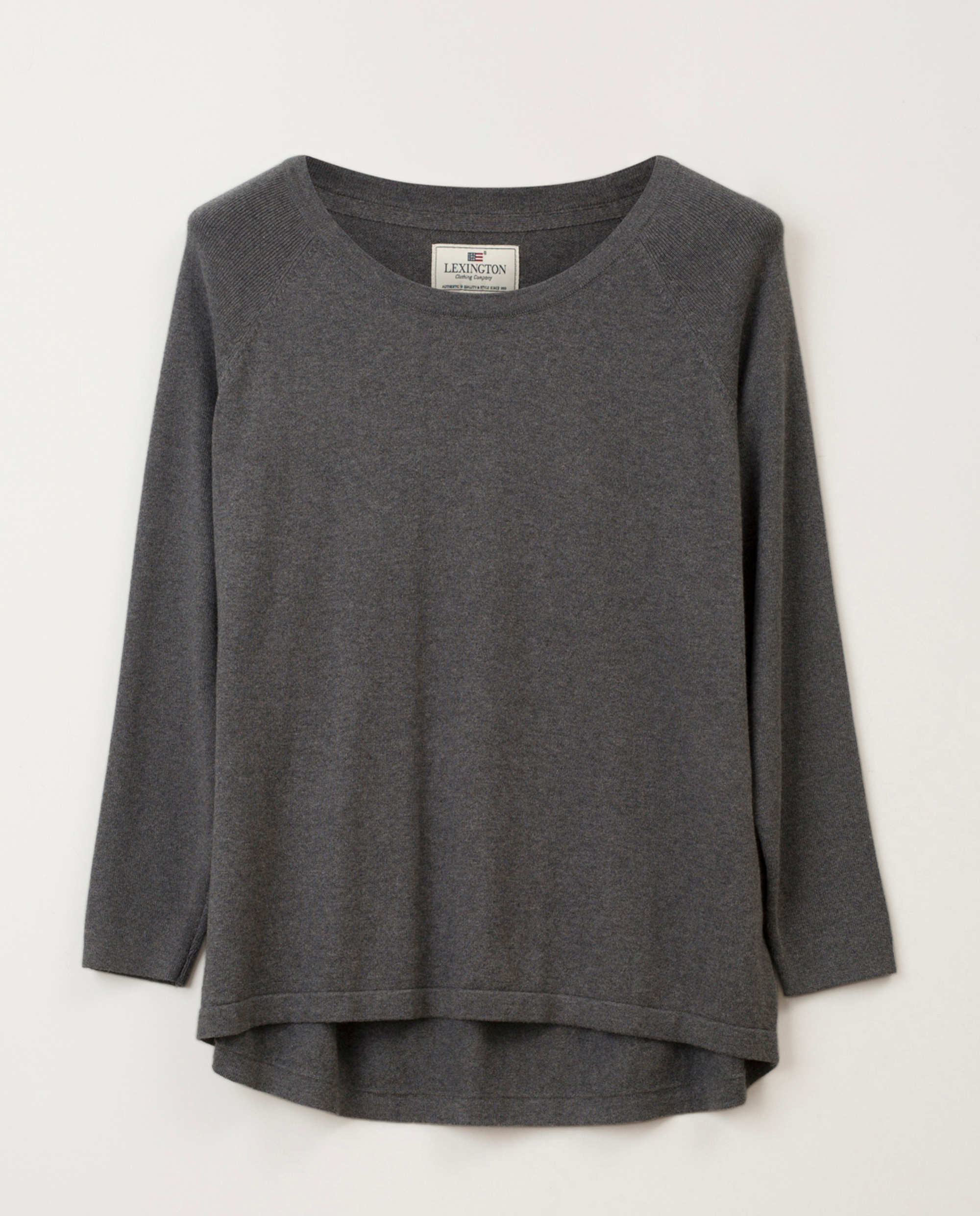 Lea Cotton/Cashmere Sweater Gray Melange