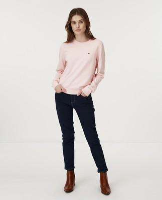 Marline Organic Cotton Sweater, Pink Melange