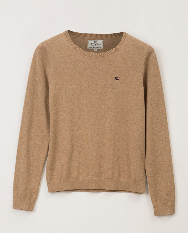 Marline Organic Cotton Sweater, Beige Melange
