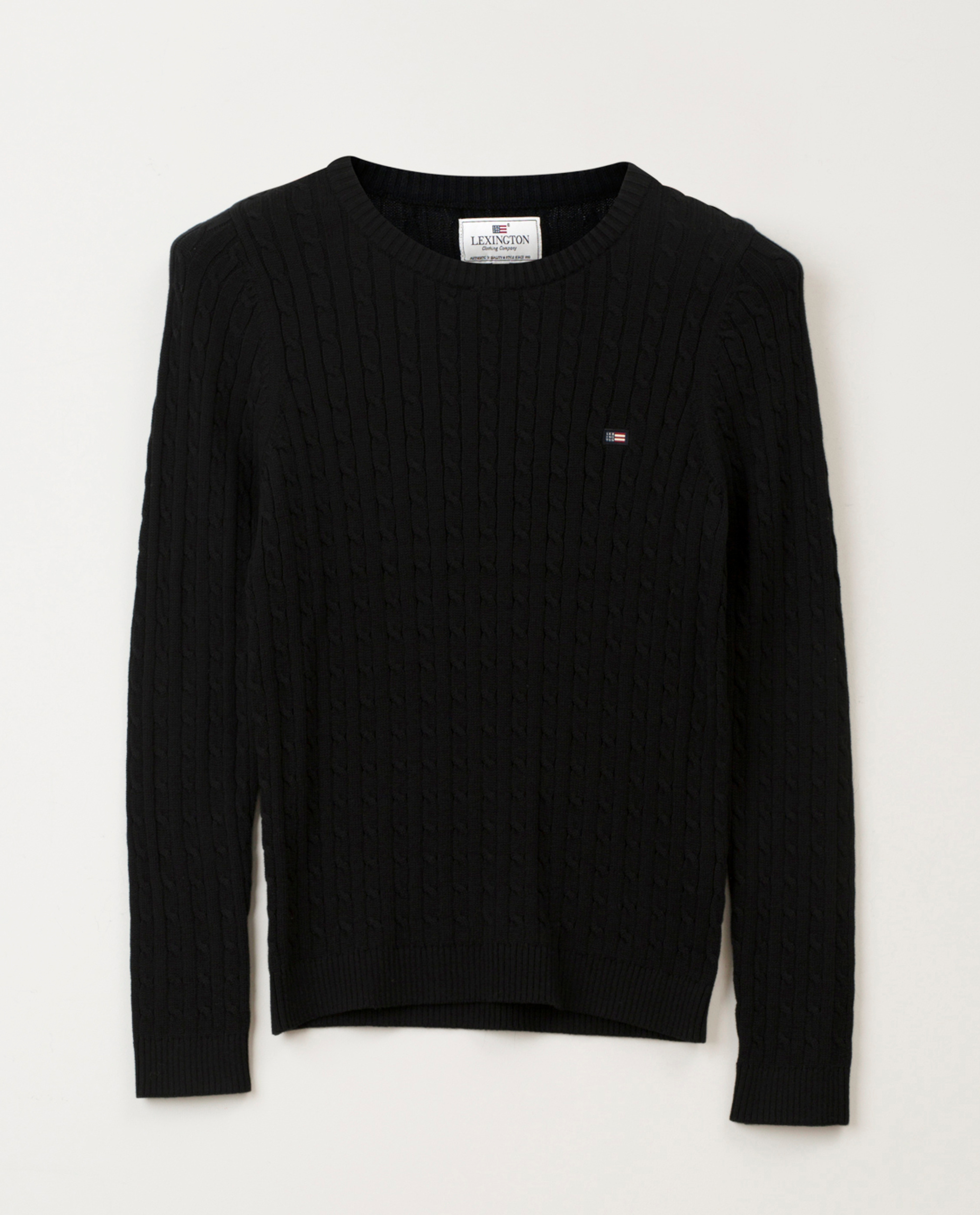 Felizia Cable Sweater, Black