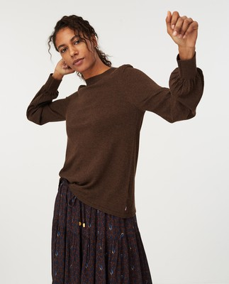 Sadie Sweater, Brown Melange