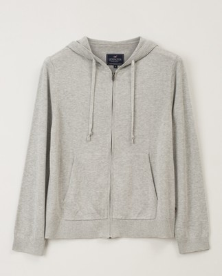 June Knitted Hoodie, Light Gray Melange