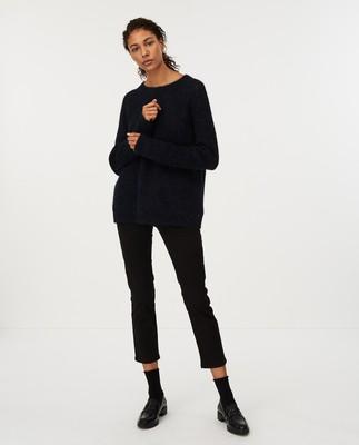 Siri Alpaca Blend Sweater, Dark Blue